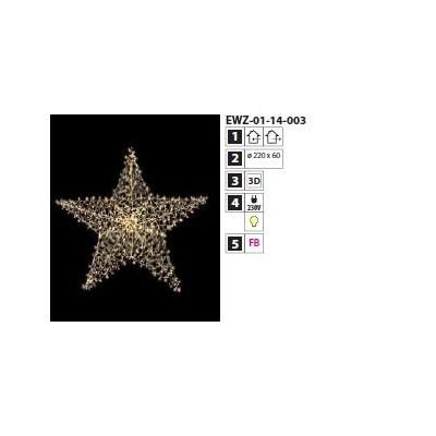 Dekoracja Gwiazda LED 3D