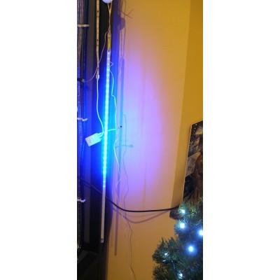 Meteor, sopelki,  Meteorki LED niebieski profesjonalny wysoka jakość. Najdłuższy-80cm, kropla światła