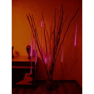 Meteor LED wielokolorowy, sopelki - RGB, długi 50cm, profesjonalny, kropla światła