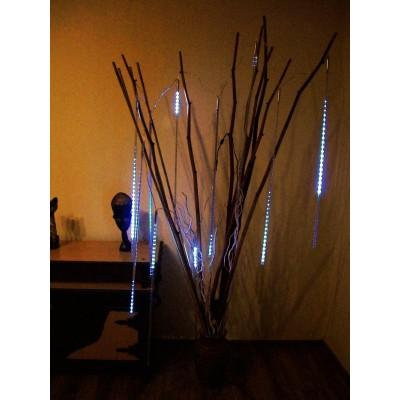 Meteor LED biały 50cm, sopelki, profesjonalny zestaw, kropla światła