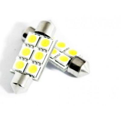 Żarówka samochodowa LED  6 diod