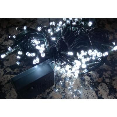 Lampki choinkowe 50 LED - BIAŁY ZIMNY