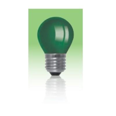 Żarówka LED  E27 1W kulka - zielona