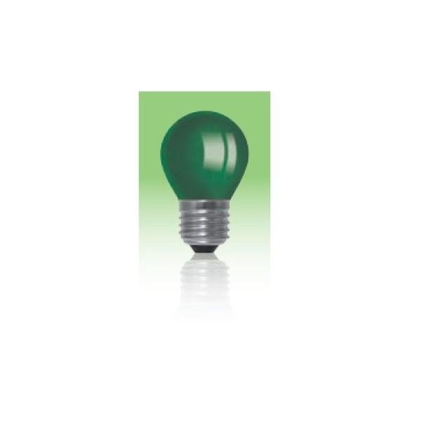 Żarówka LED  E27 1W kulka - zielona.