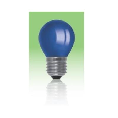 Żarówka LED  E27 1W kulka - niebieska