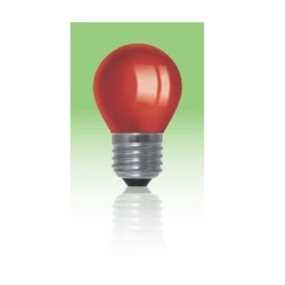 Żarówka LED  E27 1W kulka - czerwona