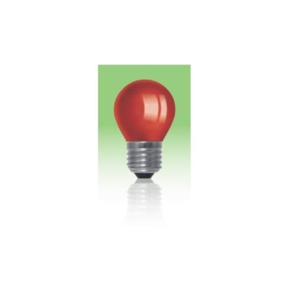 Żarówka LED  E27 1W kulka - czerwona.