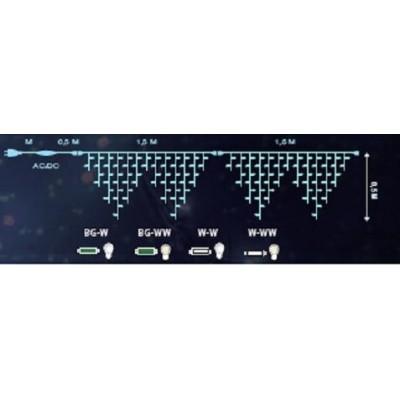 Statyczne KURTYNY SOPLE LED - zewnętrzne