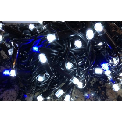 Lampki choinkowe LED 100 BLUE FLASH