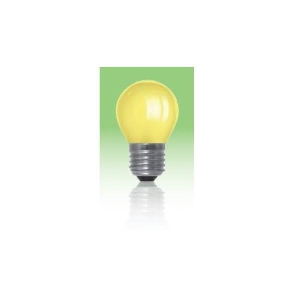 Żarówka LED  E27 1W kulka - żółta.