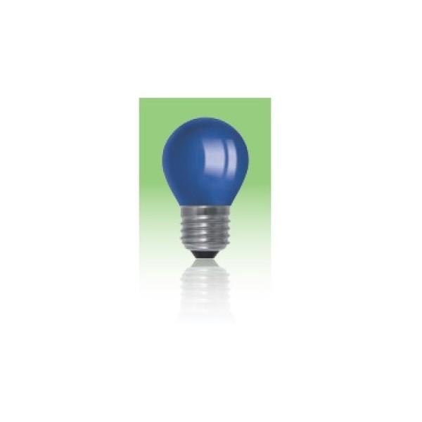 Żarówka LED  E27 1W kulka - niebieska.