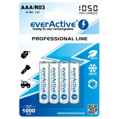 Akumulator R03 AAA EVERACTIVE Professional Line, Ni-MH, 1000 mAh, 4 szt.