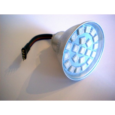 ŻARÓWKA LED RGB MR16 21 SMD 5050 3,5W